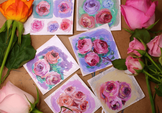 Paint Your Own Secret Garden with Abstract Roses