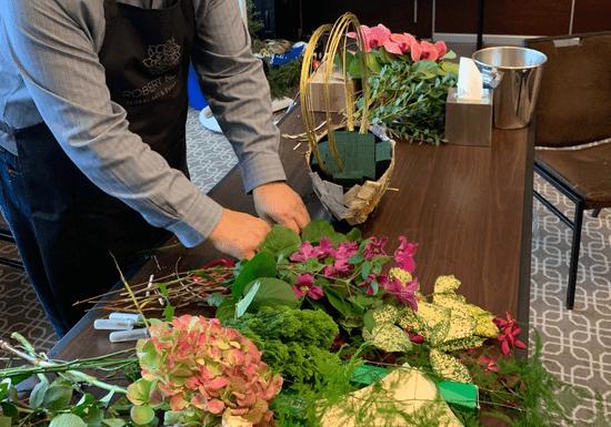 European Floral Workshop: Valentine Table Arrangements