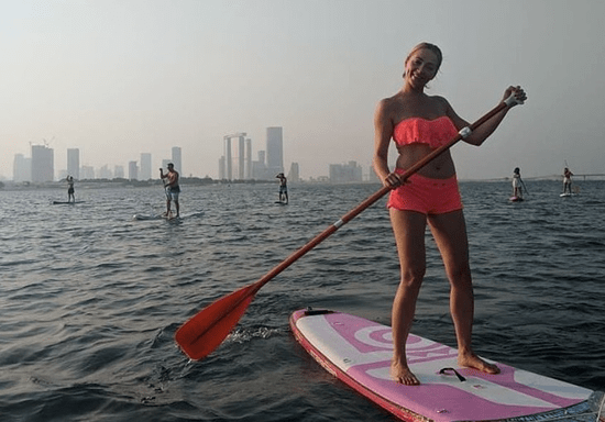 Fitness Stand-Up-Paddling Workout