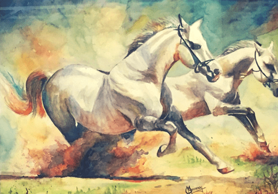 Watercolor Painting: Animals, Nature & Still Life