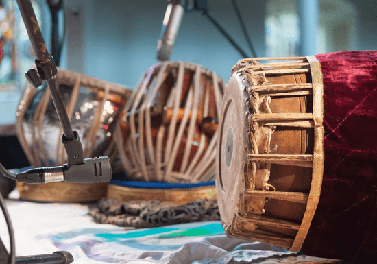 Online Class: Master 1-of-3 Indian Instrument- Tabla, Mridangam or Veena