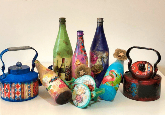 Decoupage Craft for Recycled Materials