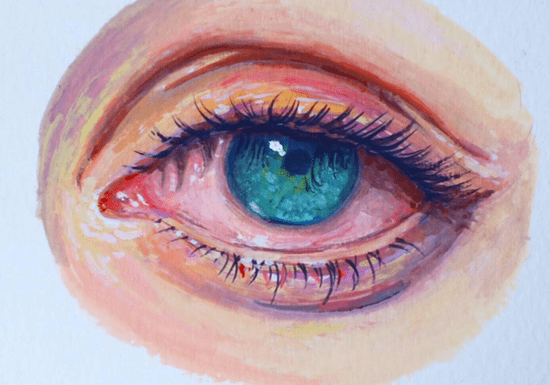 Paint Realistic Eye with Gouache