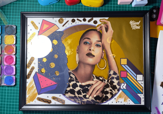 Mixed Media and Collage Art with Marwa