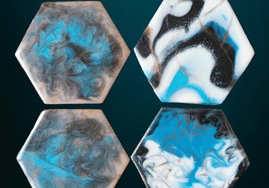 Resin Art on Coasters