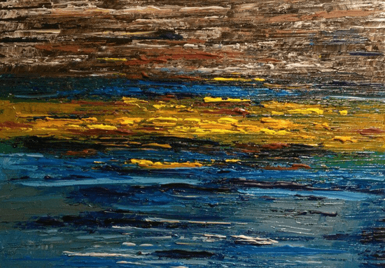 Abstract Painting with Palette Knife