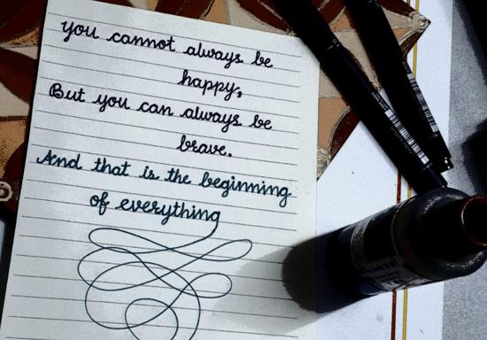 Handwriting with Sonali