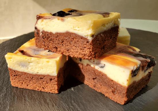 Cheesecakes: Citrus Blondie & Blueberry Brownie Cheesecakes
