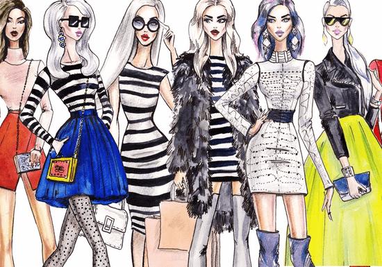 Fashion Sketching - Poses, Figures & Designs