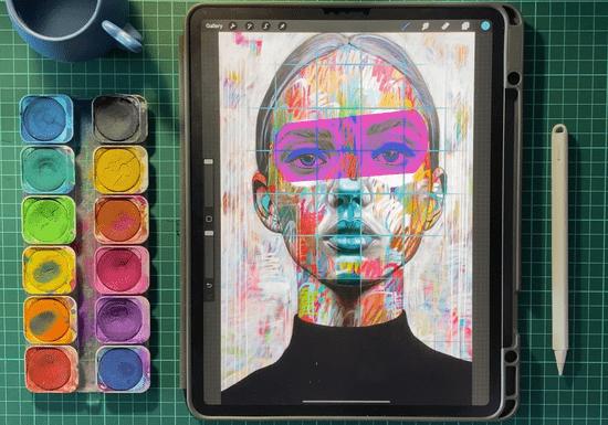 Digital Illustration Using Procreate on iPad with Marwa