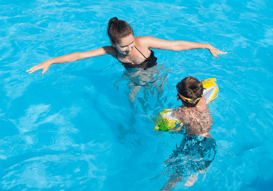 Private Swimming Classes with Female Instructor