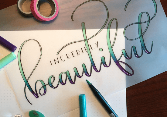 Calligraphy & Brush Lettering: Private Class with Nishika