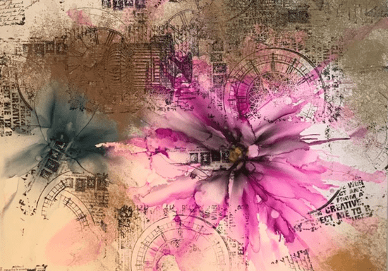 Online Class: Alcohol Ink - Art of Abstract Flowers