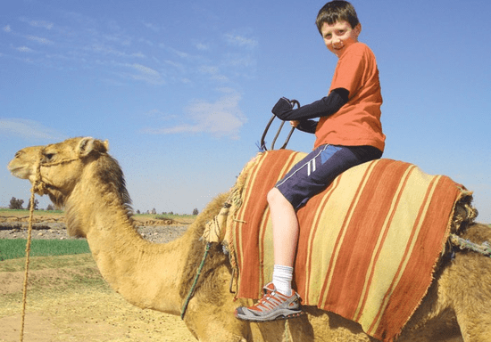 Desert Camel Riding for Kids - Ages: 7-9