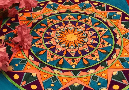 Private Mindfulness Mandala Art with Sanjana