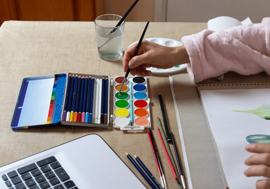 Online Class: Acrylic or Watercolor Painting with Laila