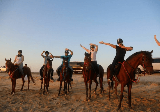 Horse Riding on a Desert Track