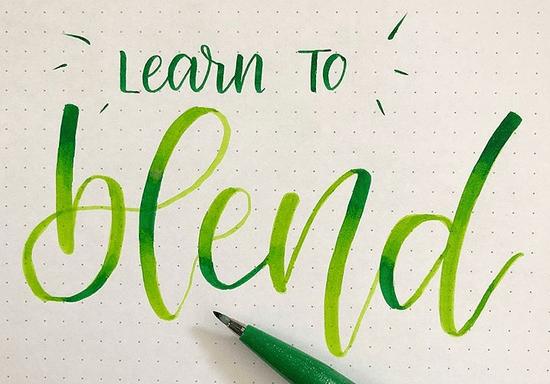 Blending on Brush Lettering Workshop