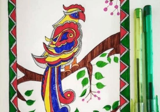 Indian Folk Art - Kerala Mural, Madhubani, Dot, Phad or Kalamkari