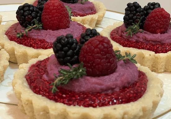 Raw Vegan Raspberry Tarts