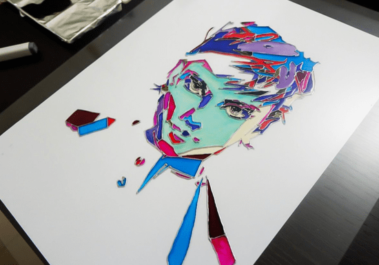 Learn How to Make a Glass Painted Portrait