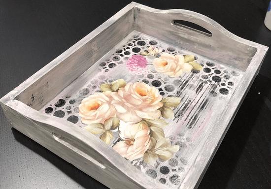 DIY Decoupage on a Tray