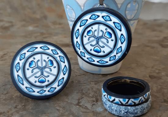 Polymer Clay Jewelry with Sadaf