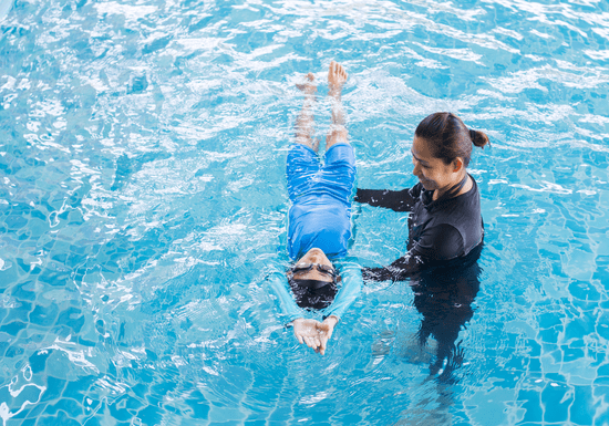 At-Home Swimming With A Female Coach