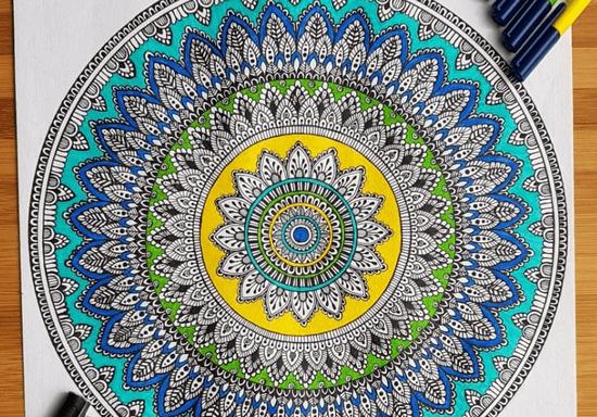 Beginner Mandala Drawing with Rucha