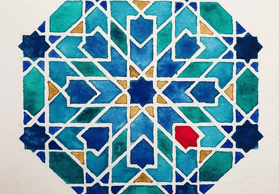 Draw Islamic Geometry Art