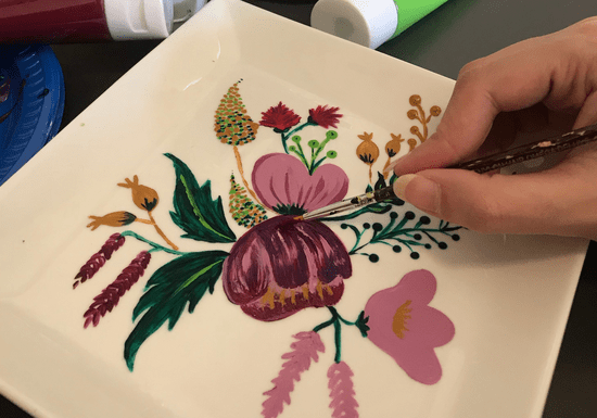 Paint on Porcelain Tableware