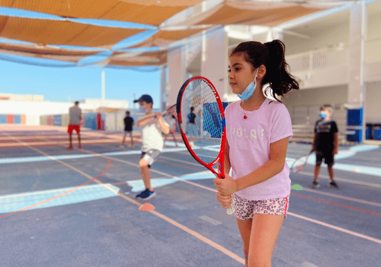 Group Tennis Coaching for Kids - Ages: 4-12 (Arabian Ranches)