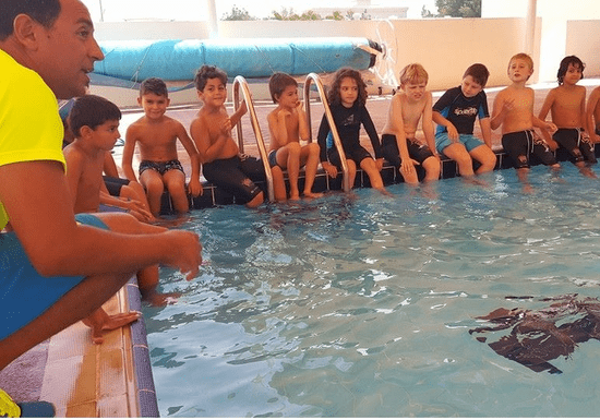 Group Swimming Class for Kids: Levels 1 to 3 - Ages: 4-14 (Mercure Hotel)