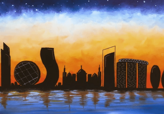 Acrylic Painting for Beginners: Paint the Abu Dhabi Skyline
