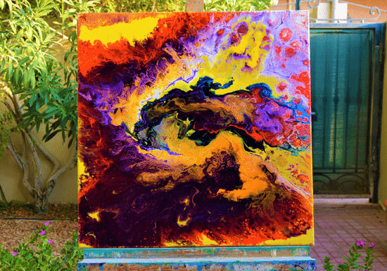 Pouring Paints Class
