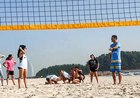 Fun Beach Volleyball Class