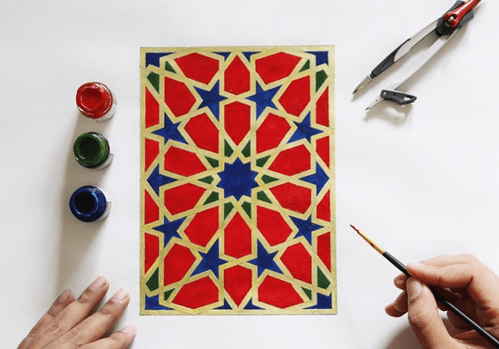 Online Class: 1-on-1 Islamic Geometry & Square Kufic Arabic Calligraphy