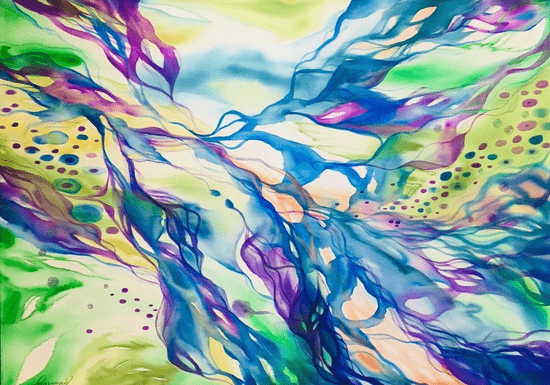 Online Class: Scarf Silk Painting with Luna