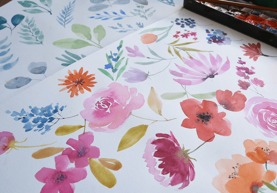 Easy Watercolor Florals Full Course