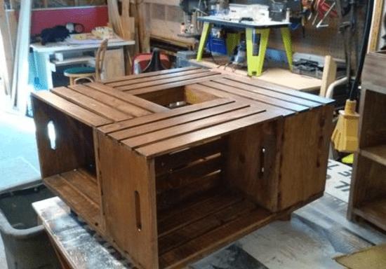 Diy Wooden Coffee Table Skilldeer