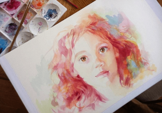 Watercolor Painting with Marwa